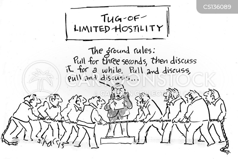 tug-of-war cartoon