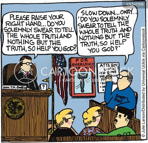 under oath cartoon