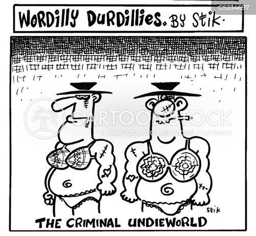 female underwear cartoon