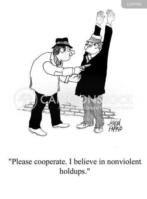 nonviolent cartoon