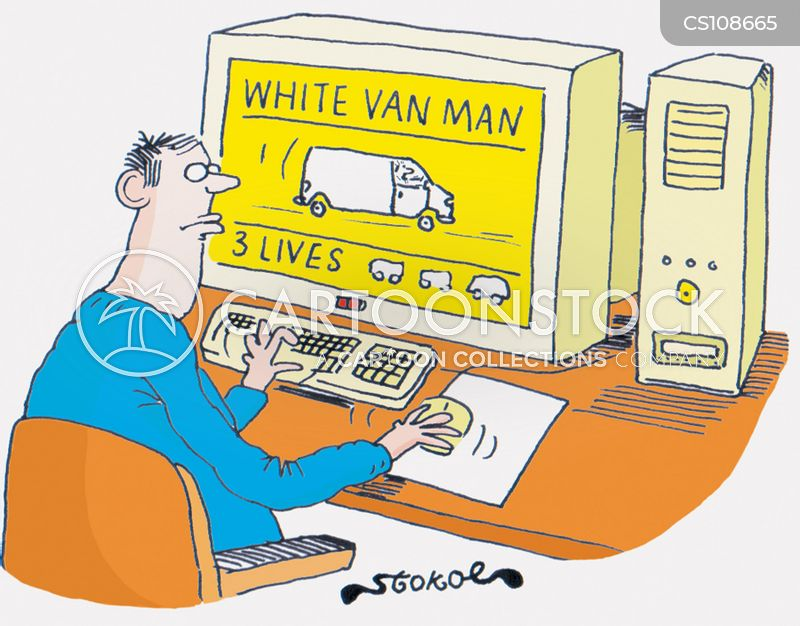white van cartoon