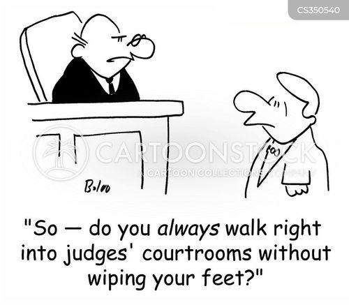wiping your feet cartoon
