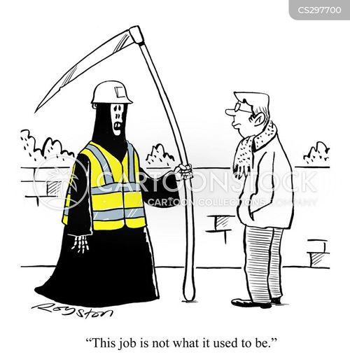 job dangers cartoon
