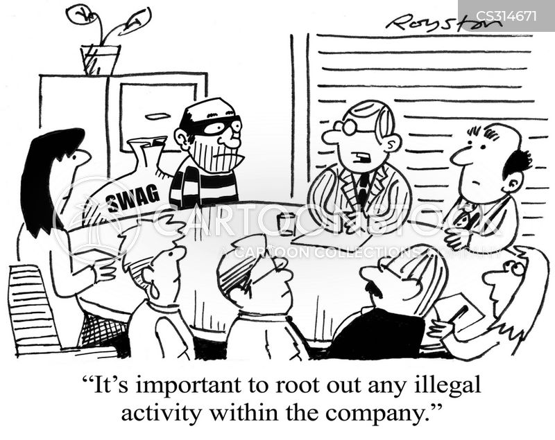 illegal activities cartoon