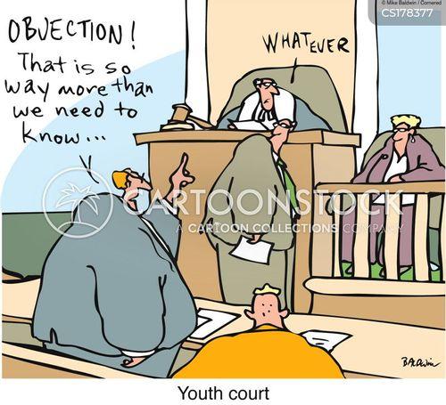 youth court cartoon