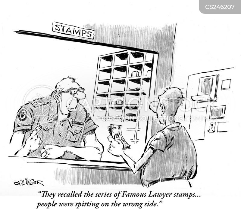 stamp collection cartoon