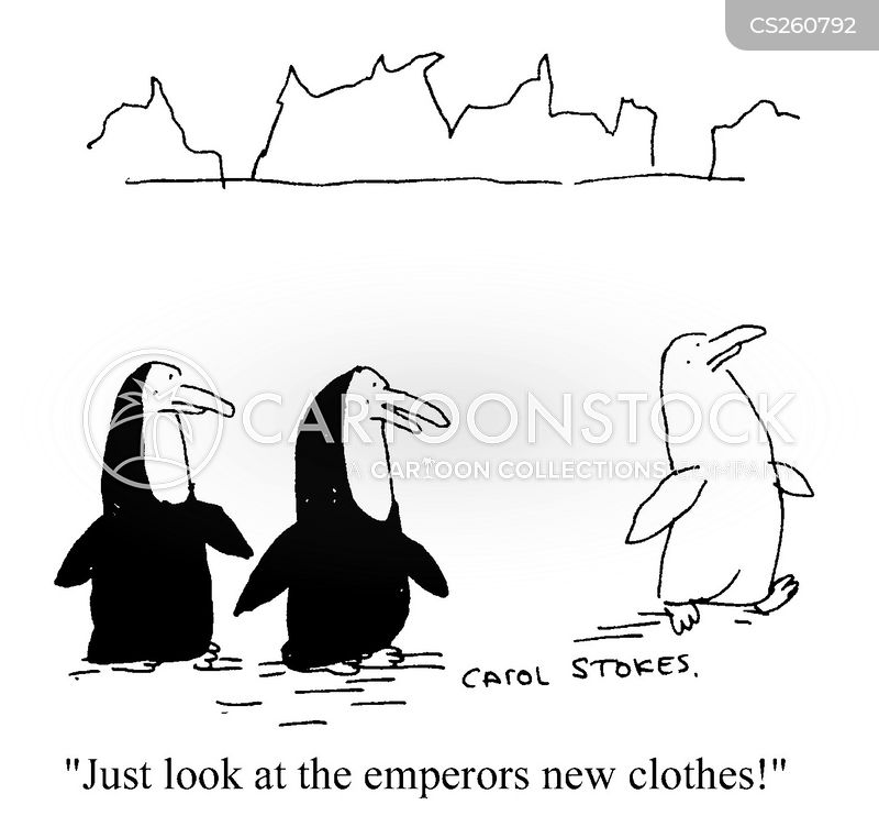 emperors new clothes cartoon