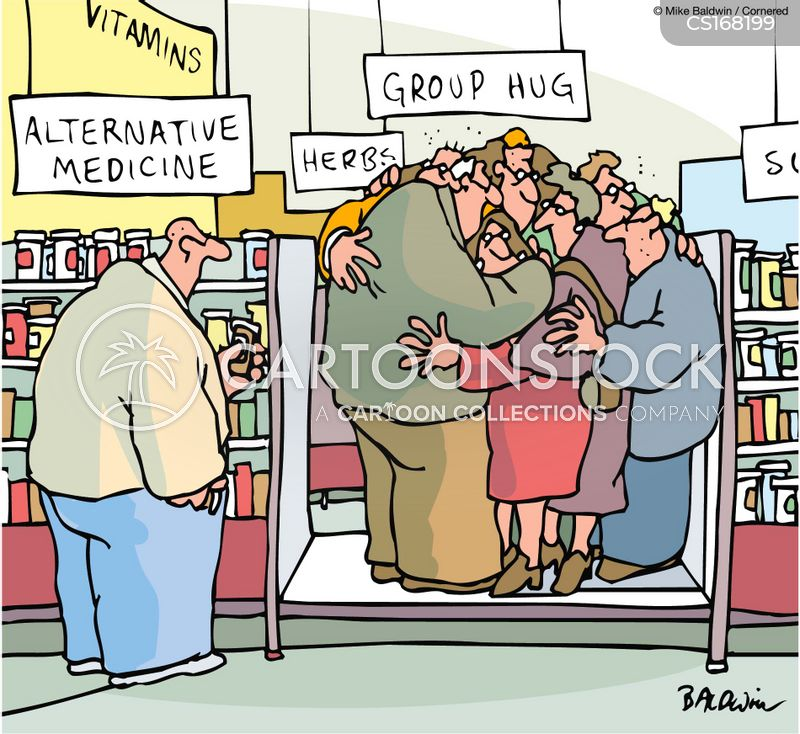 hugging cartoon