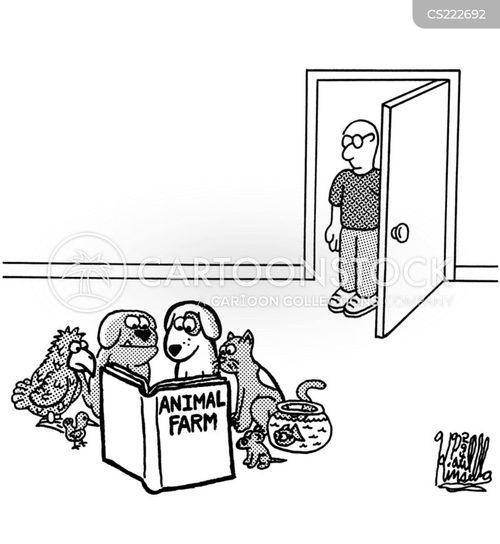 george orwell cartoon