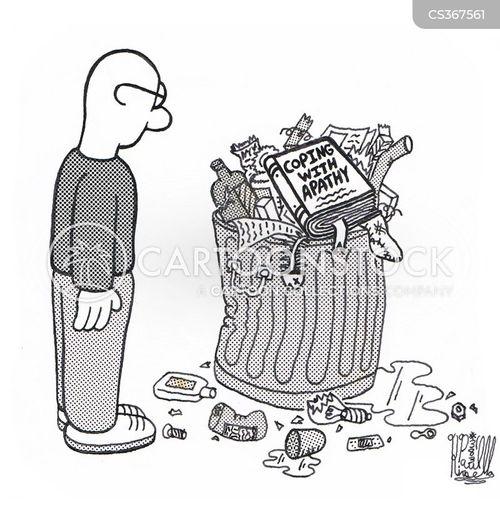 unenthusiastic cartoon