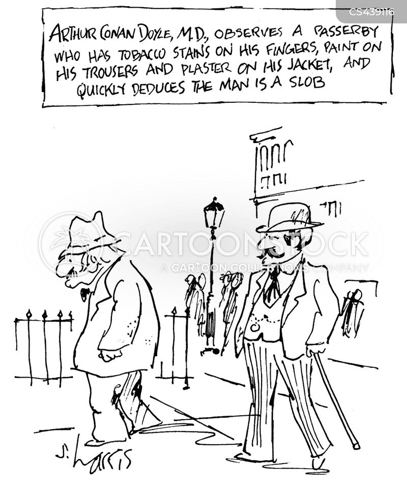arthur conan doyle cartoon