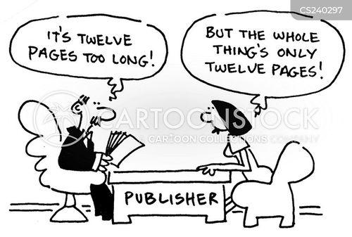 publishing agencies cartoon