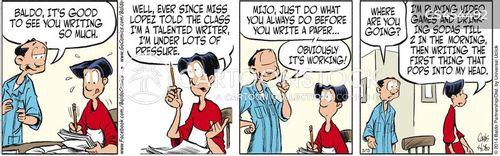 essay writing cartoon