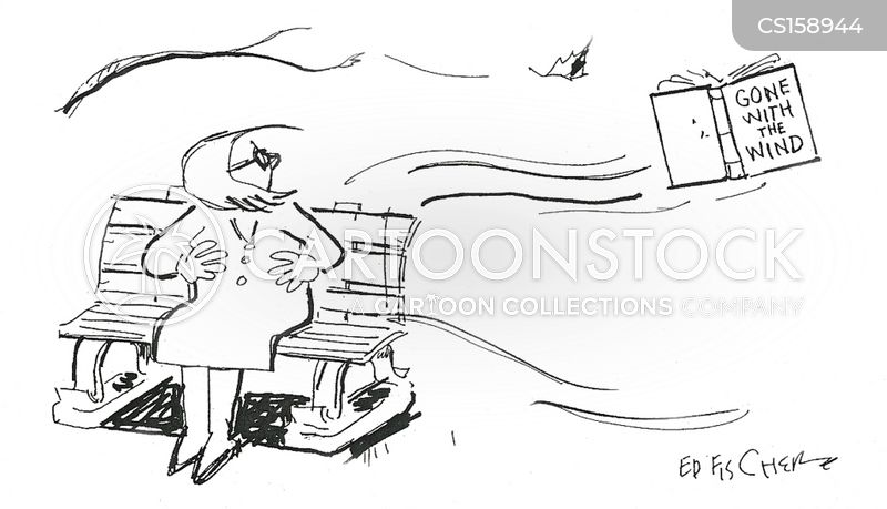 windy days cartoon