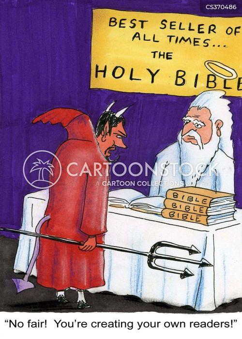 holy bible cartoon