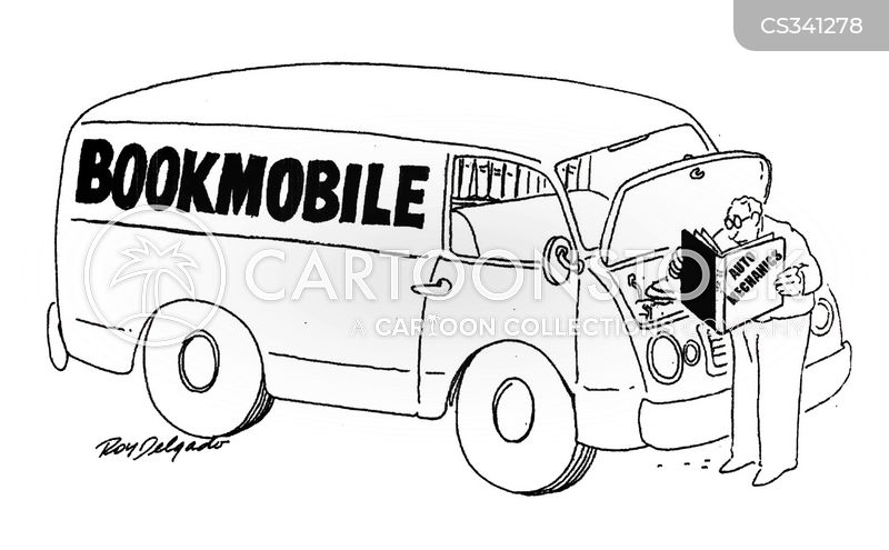 mobile libraries cartoon