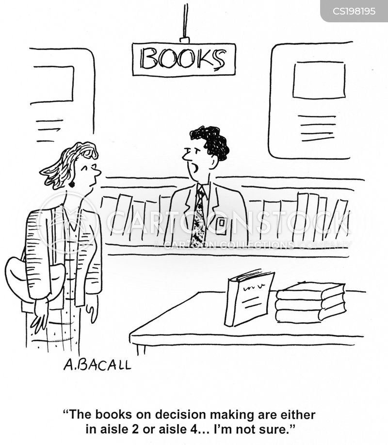 making decisions cartoon