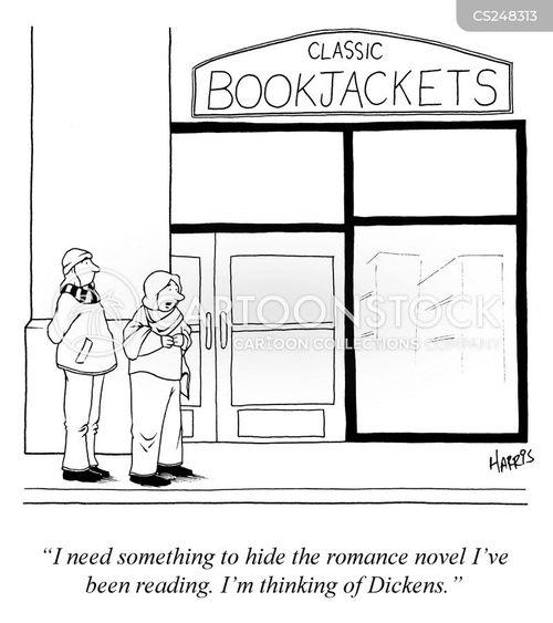book jacket cartoon