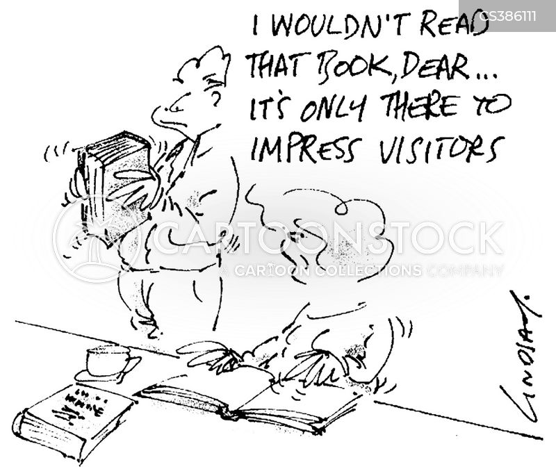 book collections cartoon