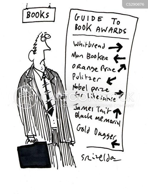 literary prize cartoon