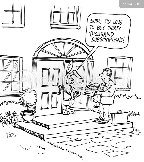 subscribe cartoon