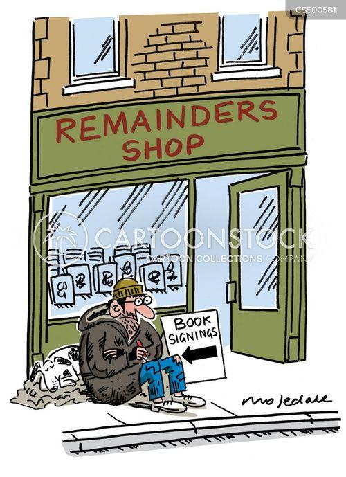 struggling author cartoon