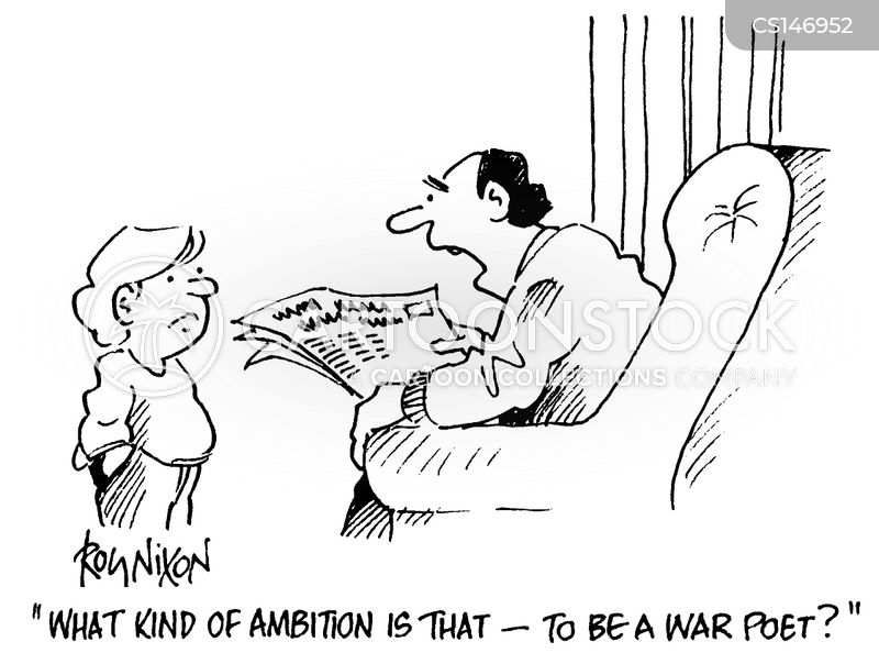War Poetry Cartoons and Comics - funny pictures from CartoonStock