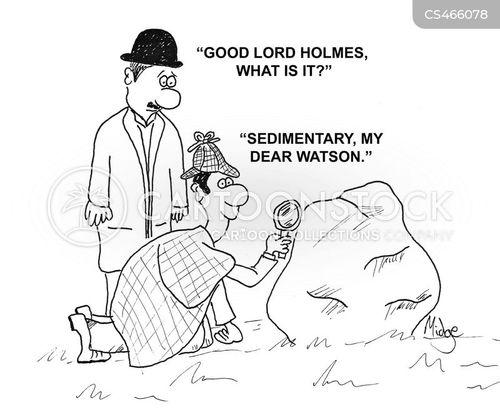 crime-scene cartoon