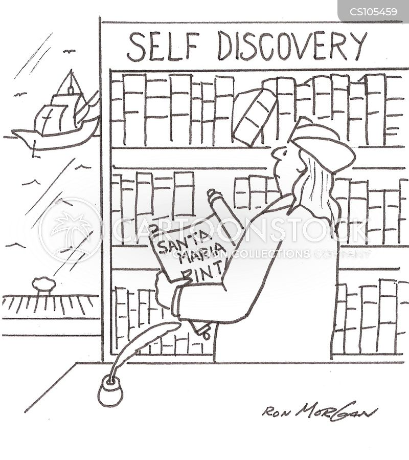 self-discovery cartoon