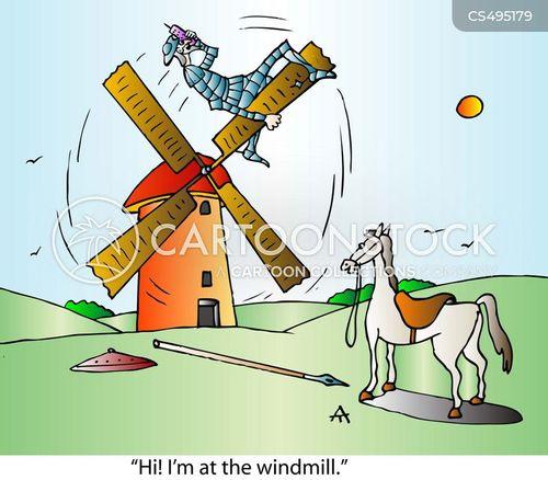 tilting at windmills cartoon