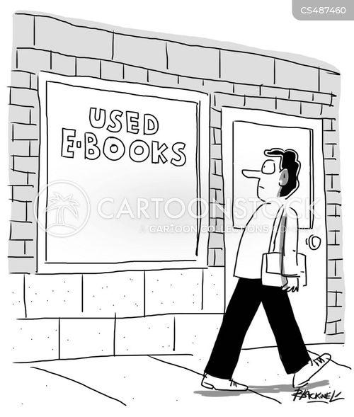 digital book cartoon