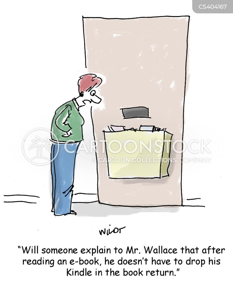 book return cartoon