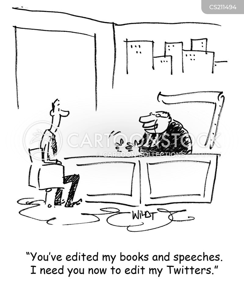 editing speeches cartoon