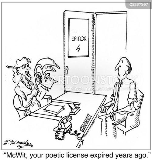 poetic license cartoon