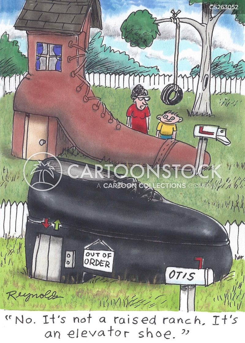 elevator shoes cartoon