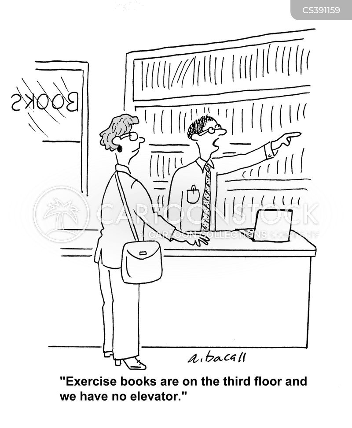 fitness levels cartoon
