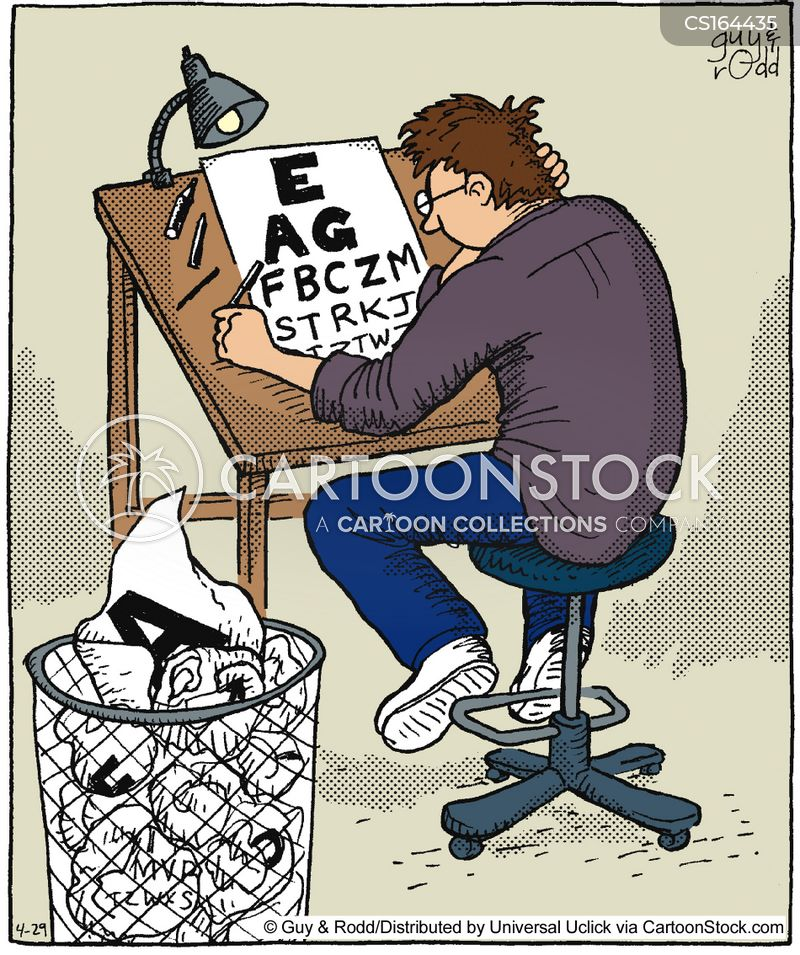 eye tests cartoon