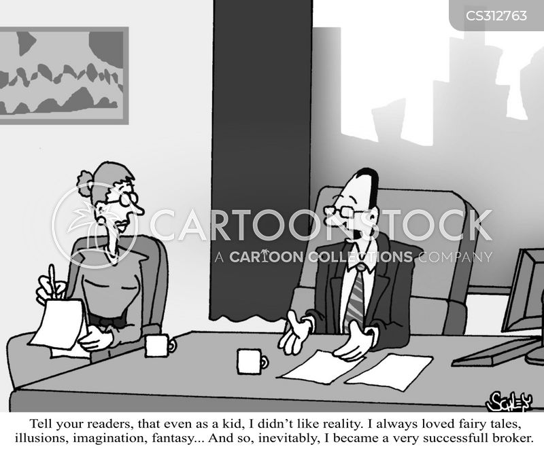 financial trader cartoon