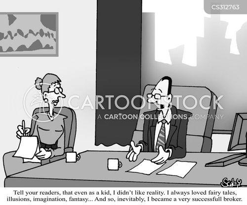 financial traders cartoon