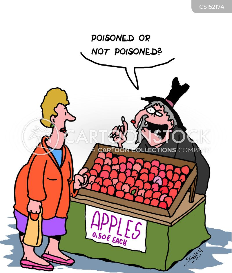 poisoned apple cartoon