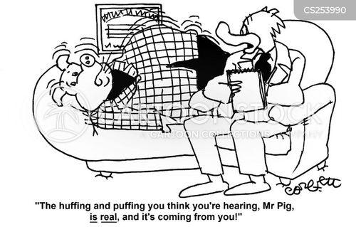 puffing cartoon