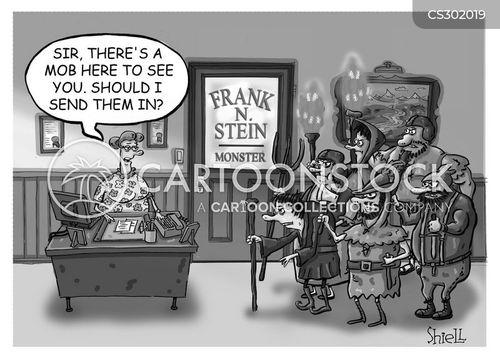 mob mentality cartoon