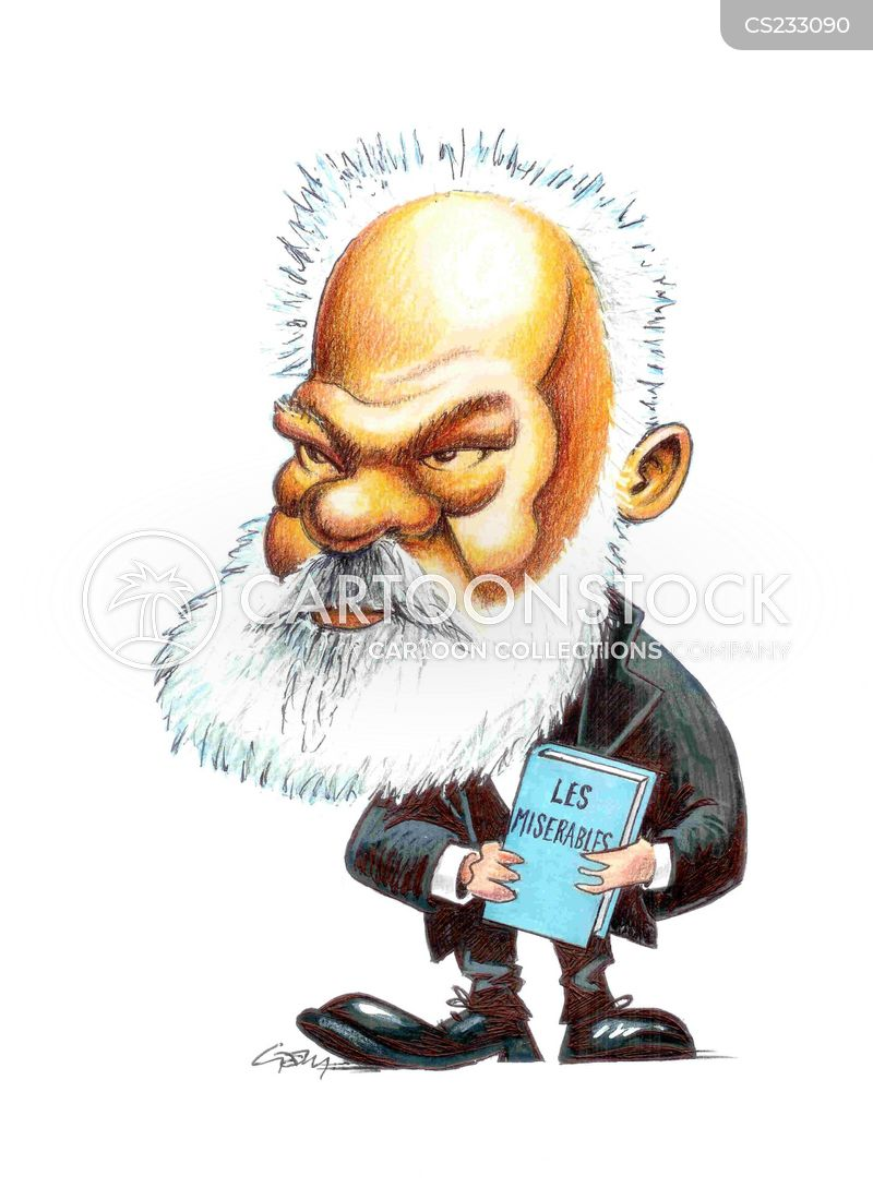 victor hugo cartoon
