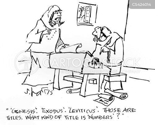 biblical book cartoon
