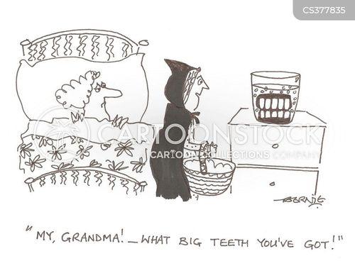 big teeth cartoon