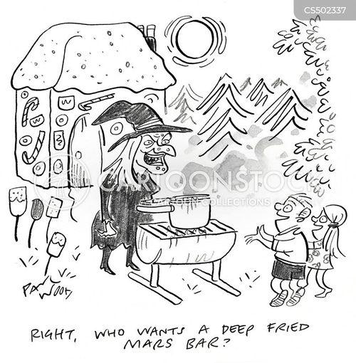 deep fried cartoon