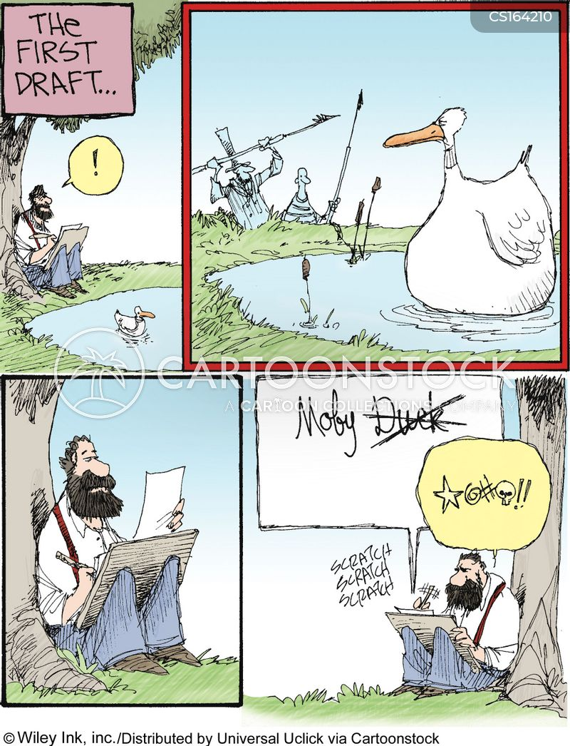 moby dick cartoon