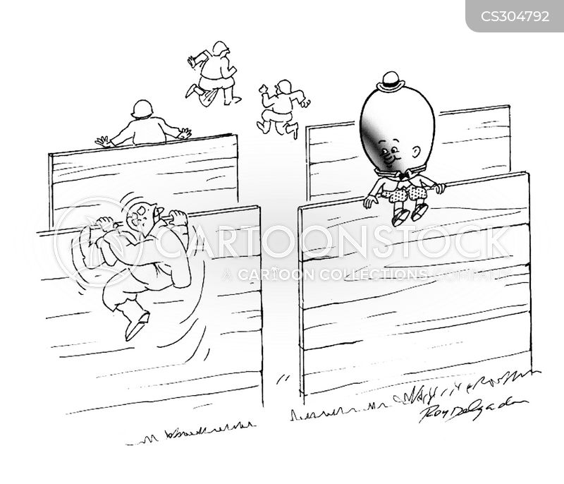 obstacle course cartoon