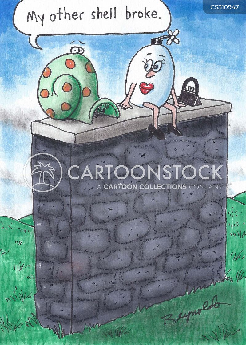 snail shells cartoon