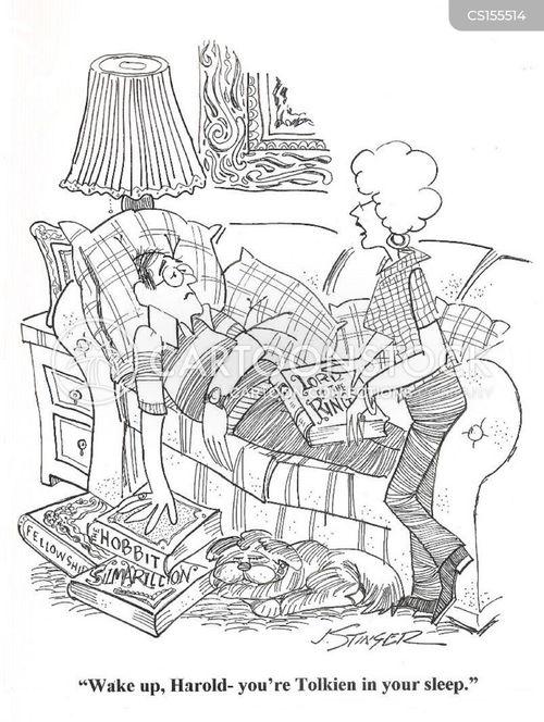 fantasy novels cartoon